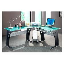 Techni Mobili Graphite Frosted Glass L Shaped Computer Desk Computer Desk With Glass Top Desks Staples Techni Mobili Dachia L