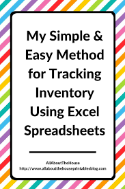 Etsy Spreadsheet My Simple And Easy Method For Tracking Product Inventory