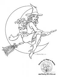 free simple witch coloring pages children t6gbg
