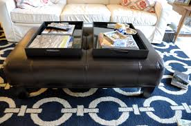 Black Leather Ottoman Furniture Awesome Black Leather Ikea Ottoman For Unique Living