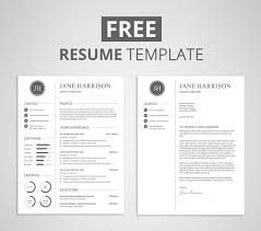 free cover letter template for resume free modern resume template that comes with matching cover letter