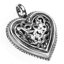 sterling heart pendant necklace images 1411 sterling silver filigree heart pendant jpg
