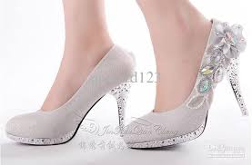 wedding shoes low heel silver bridal high heels shoes erwfs women s flower wedding shoes