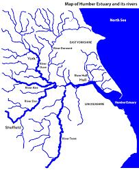Yorkshire England Map by Hull City Short Walk