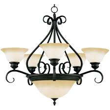 Glass Shade Chandelier Maxim Lighting Pacific 7 Light Kentucky Bronze Chandelier With