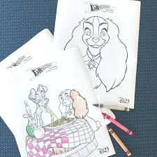 lady tramp coloring pages disney family