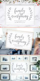 family is everything personalized print great in a gallery wall