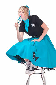 Cheap Size Halloween Costumes 3x 3x 4x Size Teal 50 U0027s Poodle Skirt Hiphop50sshop