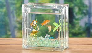 painted glass blocks craft ideas