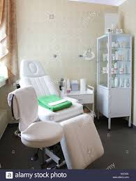 luxury and very clean massage room in european style stock photo