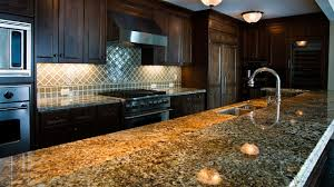 granite countertop kitchen free standing cabinets subway style