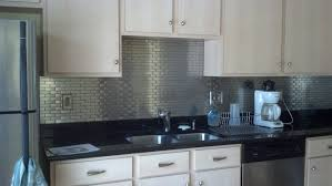 kitchen backsplash metallic mosaic tiles metal backsplash tin