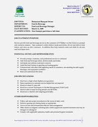 Job Responsibilities Resume by Amazing Server Job Description Resume U2013 Resume Template For Free