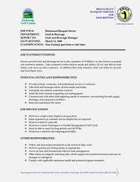 Nanny Job Description Resume by Amazing Server Job Description Resume U2013 Resume Template For Free