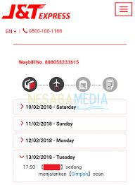 Cek Resi Cara Cek Nomor Resi J T Express Dengan Cepet Terbaru 2018