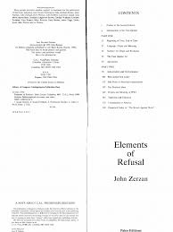 zerzan elements of refusal magic paranormal religion and