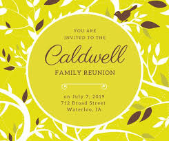 family reunion facebook post templates by canva