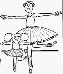 ballerina coloring color book