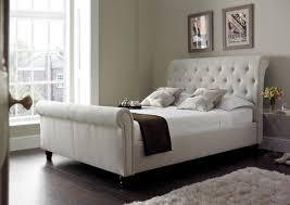Beds Elegant Upholstered King Sleigh Bed Upholstered King Sleigh Bed