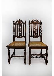 antique jacobean dining chair set of 4 barley twist c 1900
