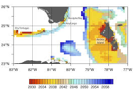 Map Of The Florida Keys New High Resolution Projections Of Coral Bleaching In The Gulf Of