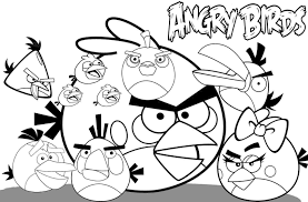 angry birds coloring pages for kids printable fun coloring pages