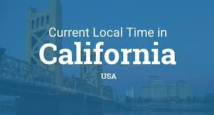 Map Of Us Time Zones by Current Local Time In California United States