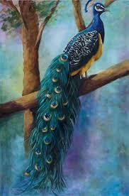 Seeking Painting Peacock Painting Seeking The Heights Birds On Limb Original