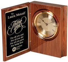 desk clock all time awards engraving wood desk clock 7 x 9 desk accessories