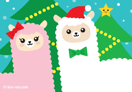 kawaii alpaca christmas card u2013 kao ani com