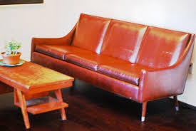 Leather Mid Century Chair Amazing Mid Century Leather Sofa Designs