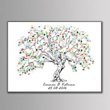 baby shower fingerprint tree new customized diy wedding fingerprint tree baby shower birthday