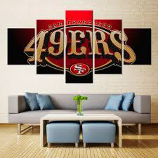 football bedroom set hallmart kids touchdown boys comforter set sf sport logo american football team san francisco 49ers wall art painting oil canvas waterproof for bedroom decor 5pcs setonline get cheap football bedroom