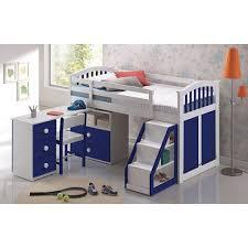 Dreams Kipling Blue Midsleeper Cabin Bed - Mid sleeper bunk bed