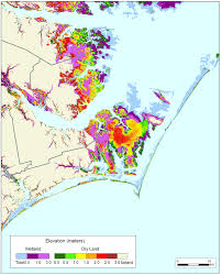 Map Of North Carolina Cities More Sea Level Rise Maps Of North Carolina