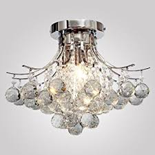 How To Make A Mini Chandelier Loco Chrome Finish Crystal Chandelier With 3 Lights Mini Style