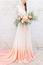 dip dye wedding dress dip dye wedding ideas in ombré and coral dip dyed dip dye