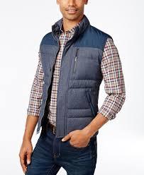 brooks brothers red fleece men u0027s mixed media vest coats