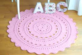 Pink Rug Nursery Handy Crafter Perfect For A Nursery Sara Doily Rug In Country