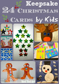 christmas card ideas for kids red ted art u0027s blog