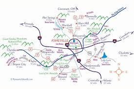 nc state cus map asheville carolina maps