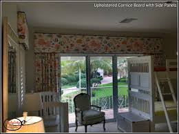 upholstered cornice board with side panels that shady lady window