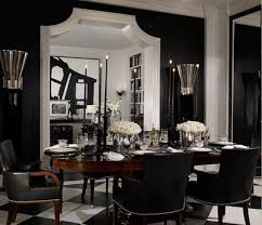 Elegant Black And White Dining Room Designs Luxury Dining - Ralph lauren dining room