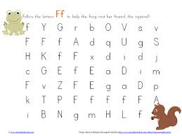 letter f maze printable simple fun for kids