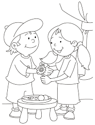 how to draw coloring pages rakhi festival drawing happy raksha bandhan pinterest rakhi