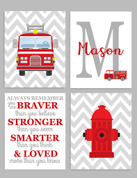 Firefighter Nursery Decor Firefighter Nursery Fireman Nursery Decor Baby Boy Wall
