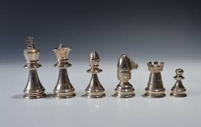 unusual chess sets solid silver chess set richard gardner antiques