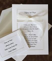bow style white wedding invitation trendy mods