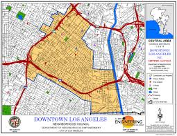 map of downtown los angeles how los angeles got a downtown kcet