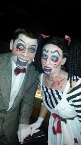 Scary Scary Halloween Costumes Creepy Scary Ventriloquist Dummy Dolls Couple Halloween Costume